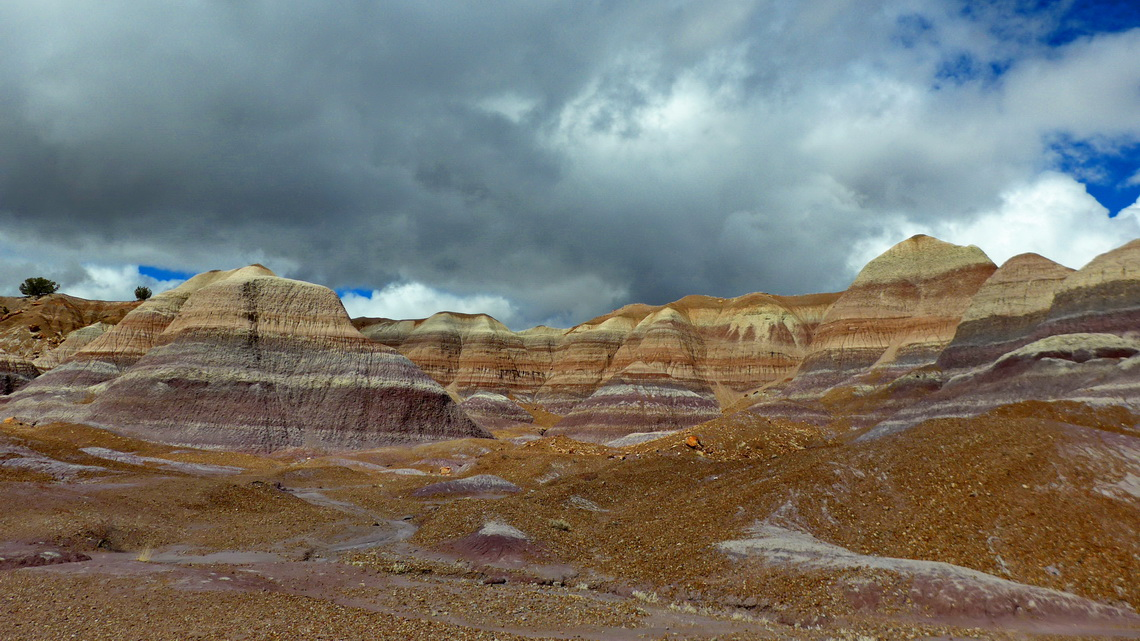 Colorful Blue Mesa which seems to be more purple