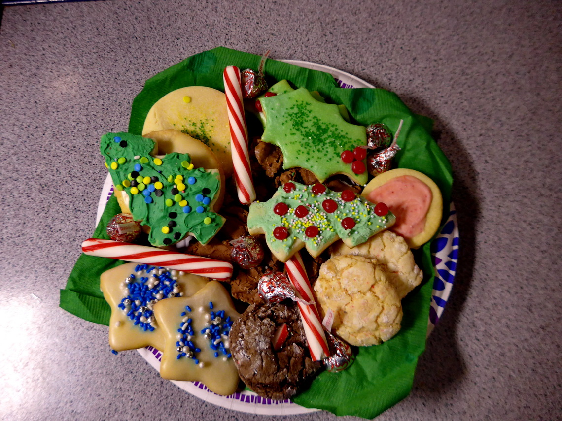 Cookies people in Overton donated us for Christmas