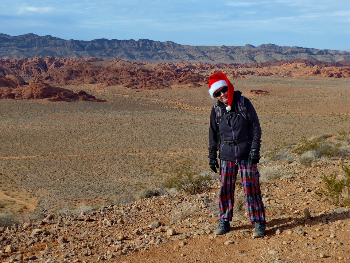 Our Christmas hike in the mountains west of Overton