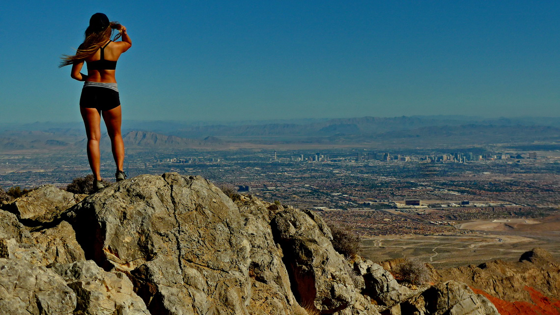 On top of Turtlehead Mountain with Las Vegas in the background
