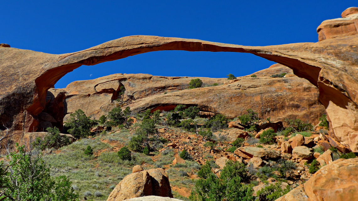 Landscape Arch which is with 88 meters span one of the largest of our world
