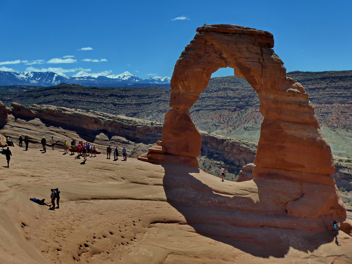 Delicate Arch seen from the North