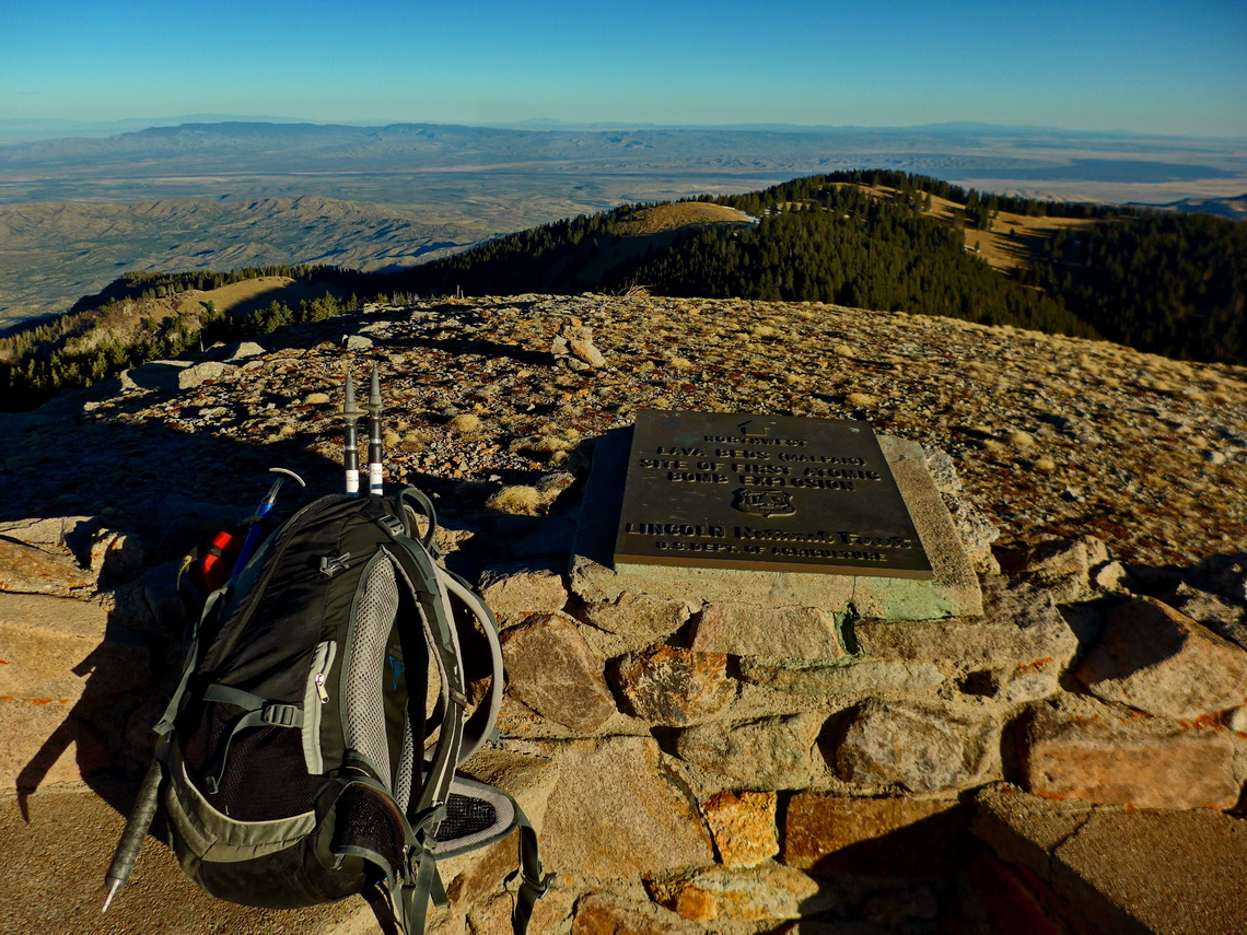 Northwestern view from 3518 meters high Lookout Mountain to the site of the first atomic bomb explosion on earth