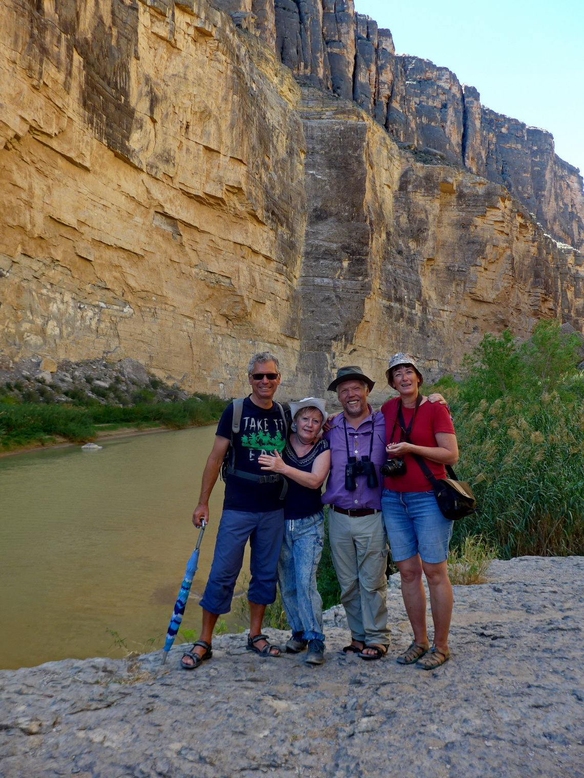 Alfred, Marion, Elmar and Ilse in the Santa Elena Canyon