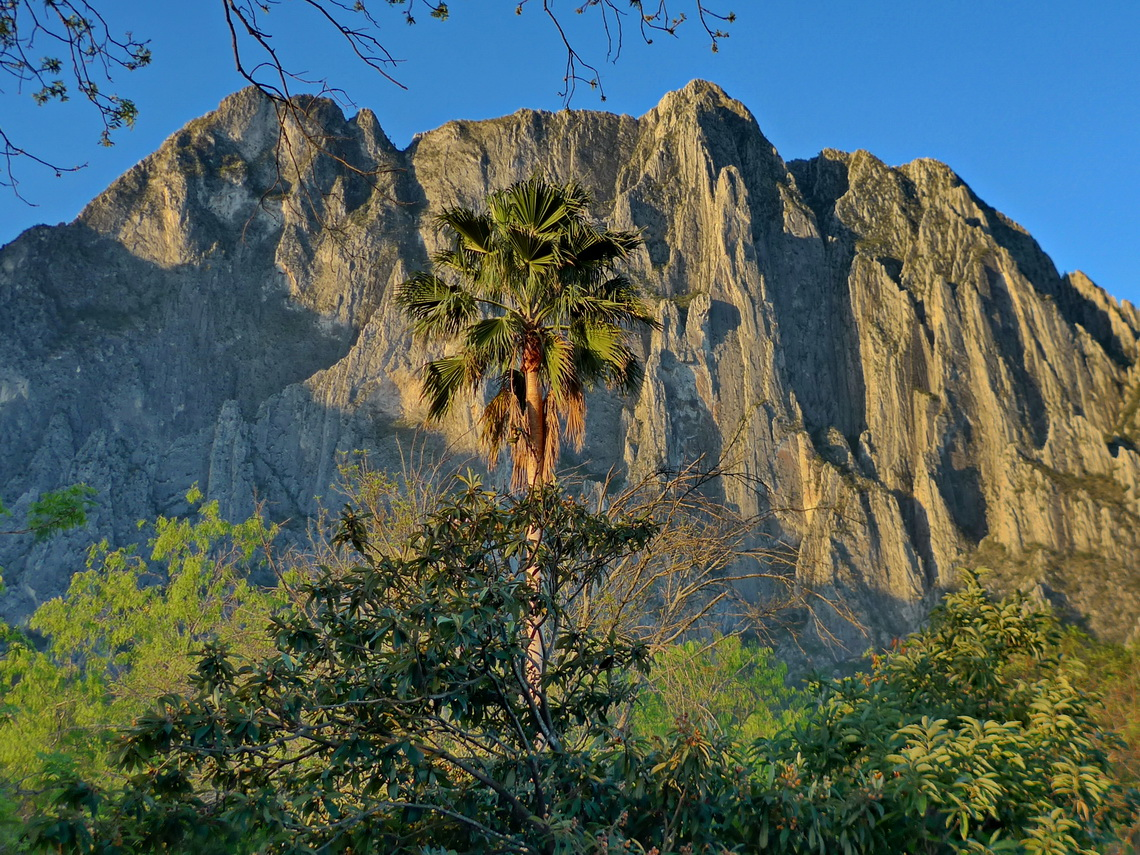 Famous walls of Potrero Chico with Cerro Toro