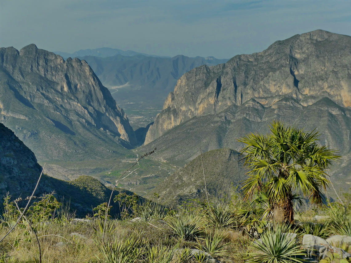 El Potrero Chico seen from the summit of Cerro Plutonio, 1682 meters sea-level