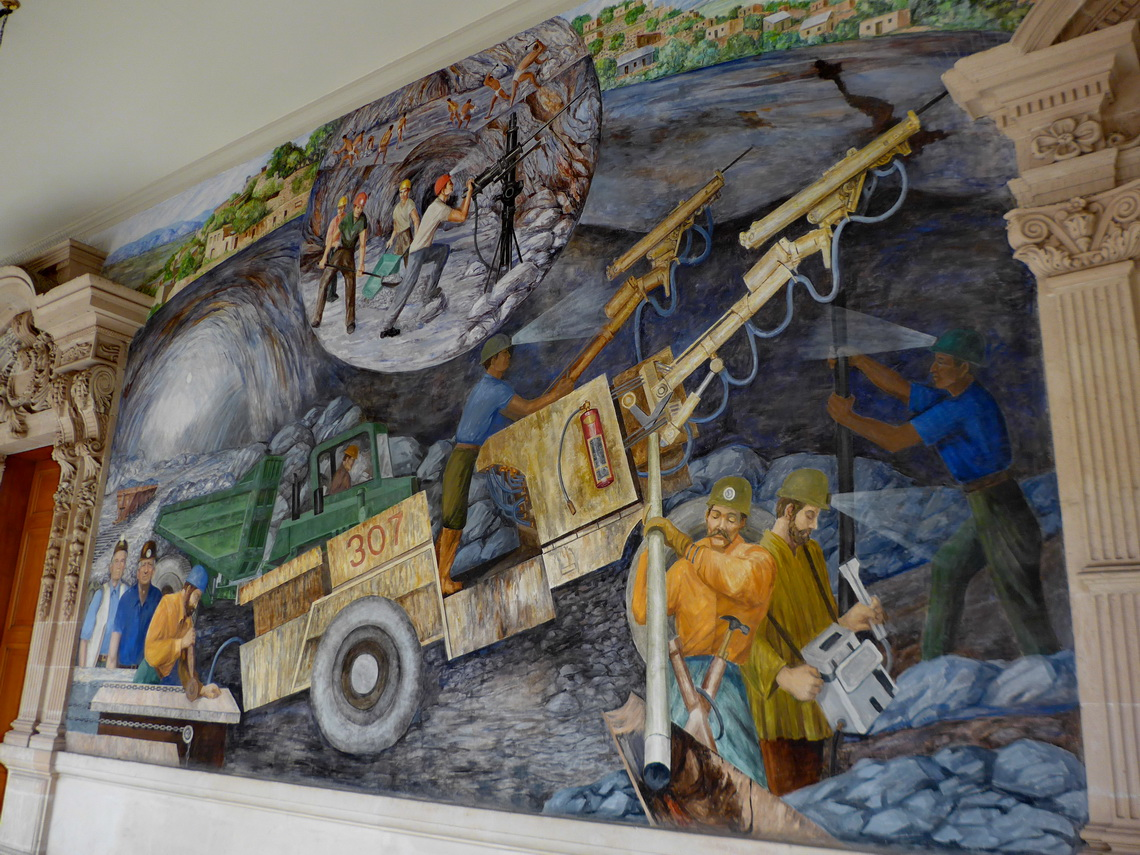 Impressive mural in the palace of the administration of the state Chihuahua