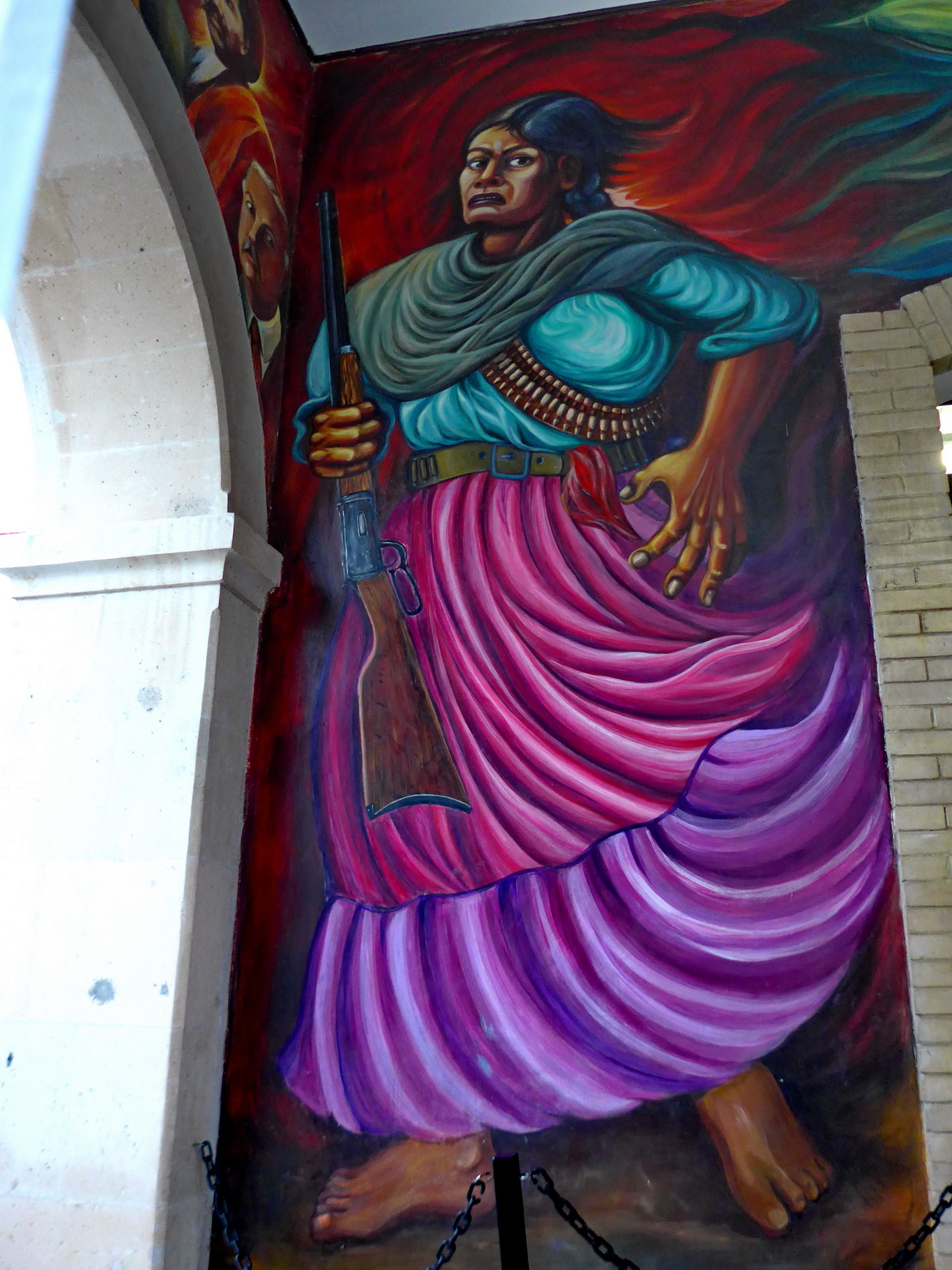 Mural in the Museo Casa de Villa