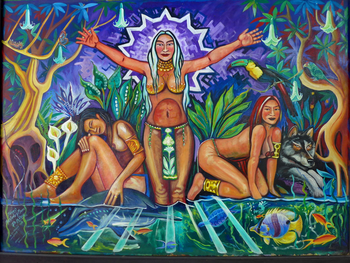Fertility Goddesses of Uruapan at the entrance of the park