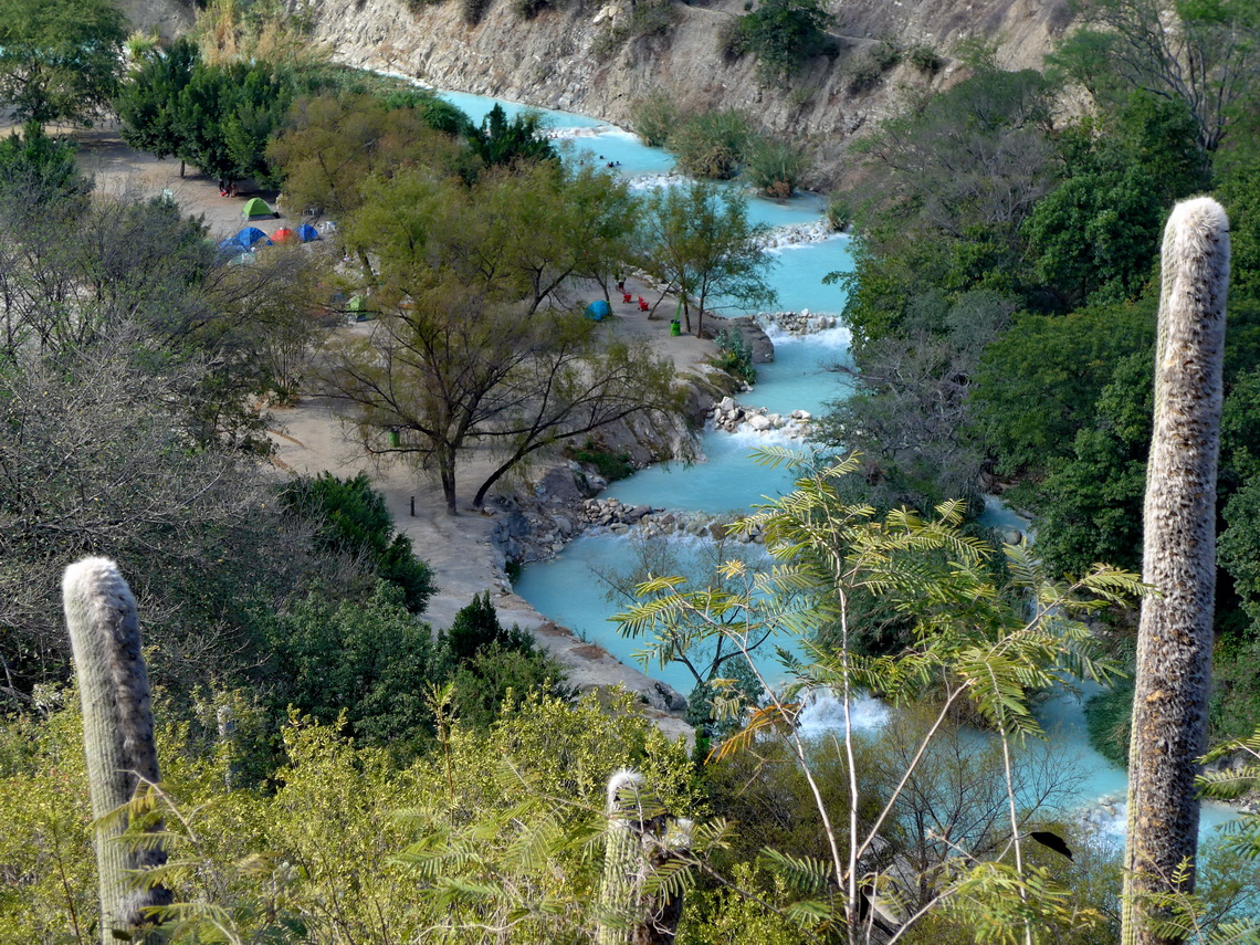The warm river which comes out of the Grutas de Tolantongo