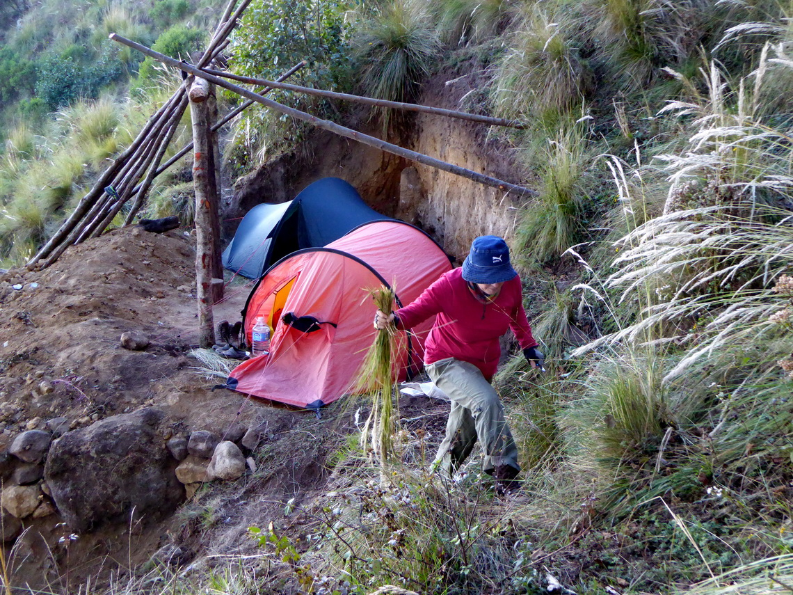 Our cozy base camp on Volcan Tacaná