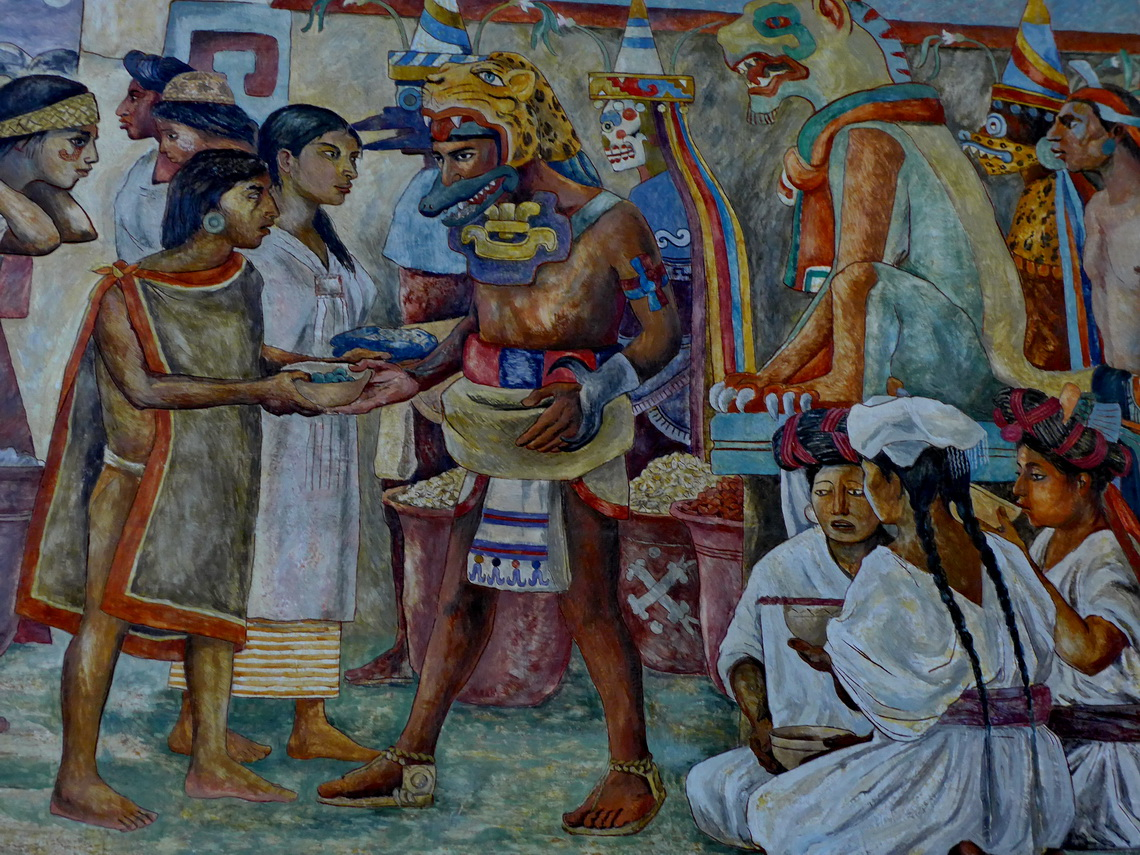 Detail of the mural in the Palacio de Gobierno