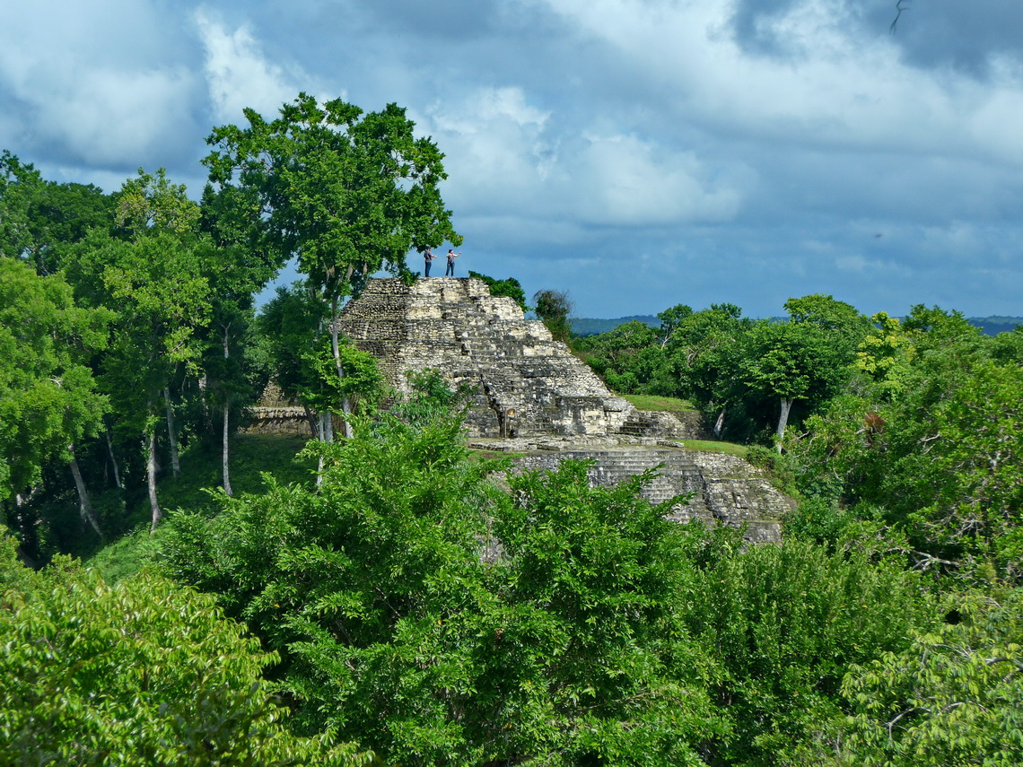 In the Maya ruins of Yax-Ha