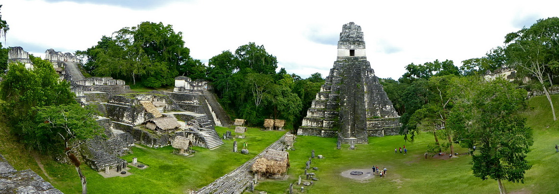 Main place of Tikal with the Temple of the Great Jaguar