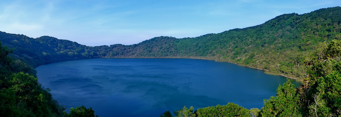 The lake in the crater of Volcan de Ipala