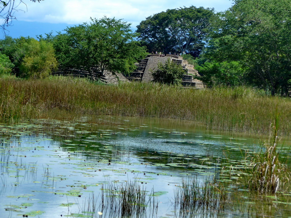 Approaching the Maya site Lagartero