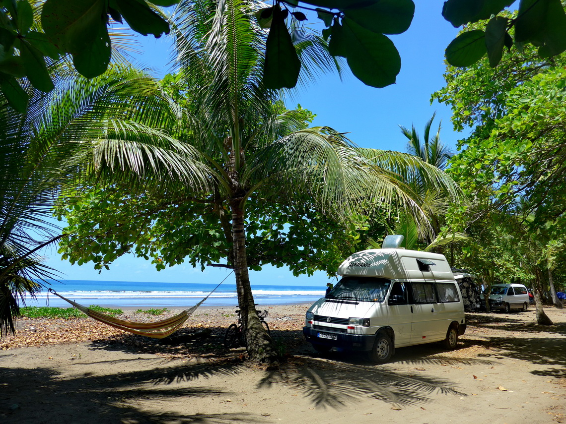 Our campsite on Playa Dominical