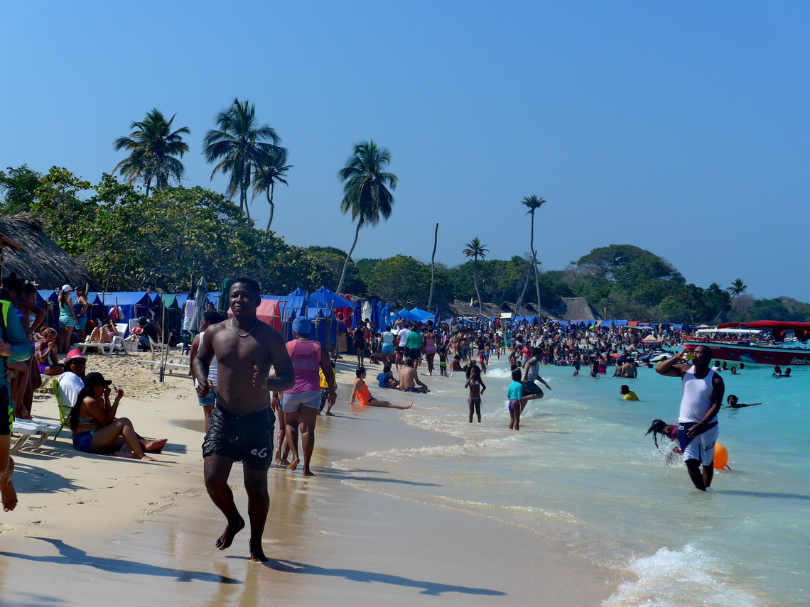 Busy beach on the weekend