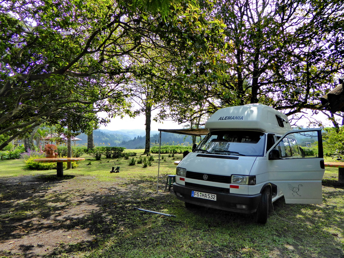 In the campsite Ecoparque Rayos del Sol