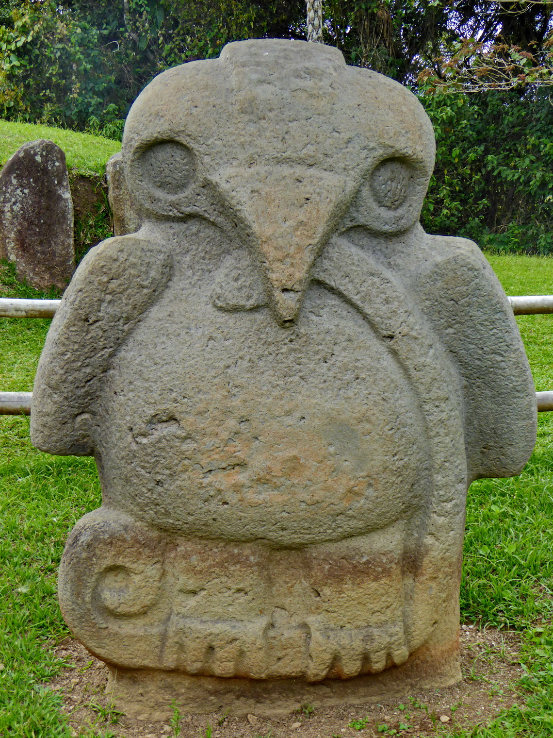 Eagle with snake, one of the most famous effigies of San Agustin