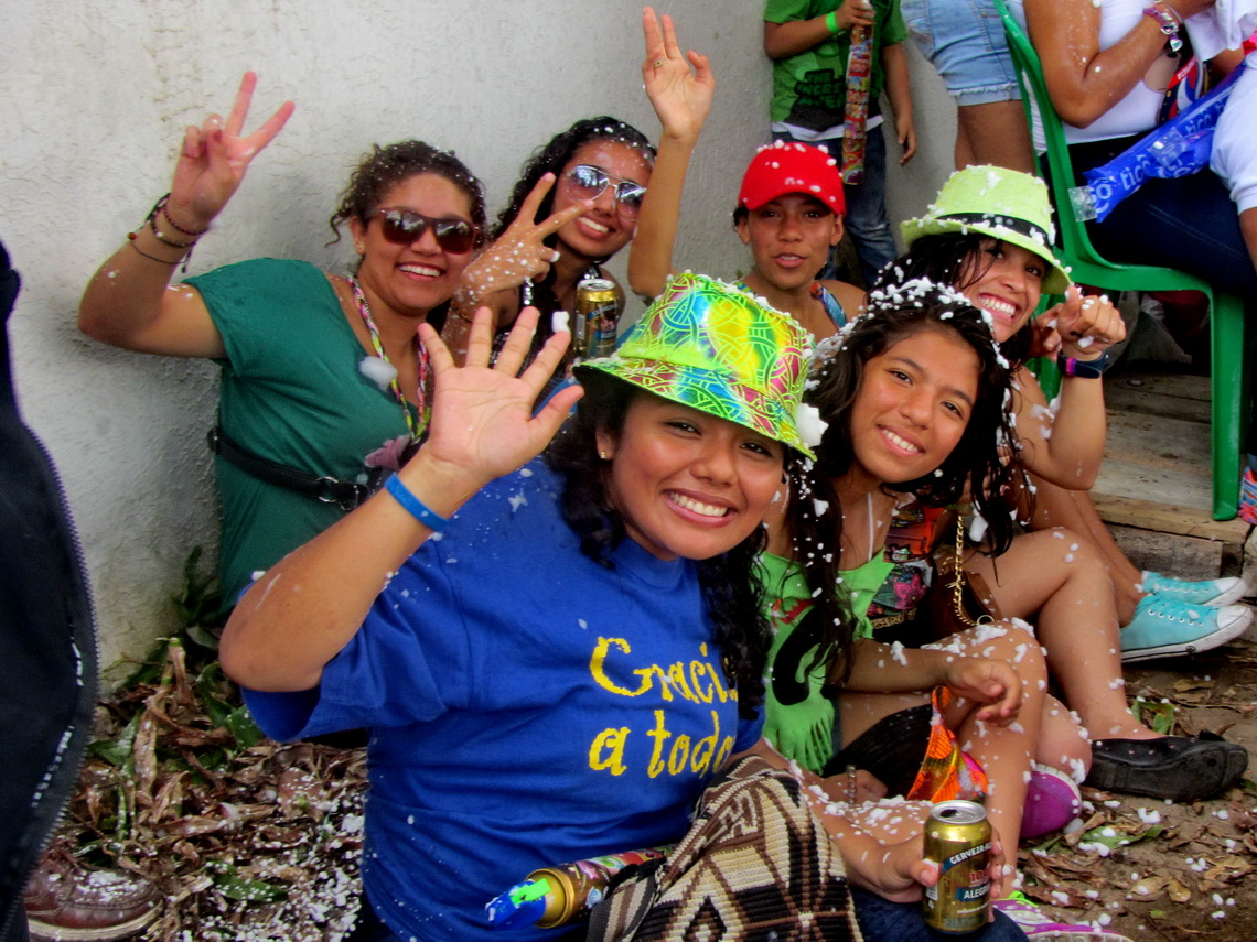 Girls celebrating carnival in Barranquilla