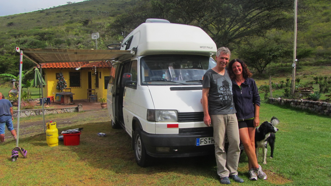 Alfred with Patricia on her Finca Sommerwind