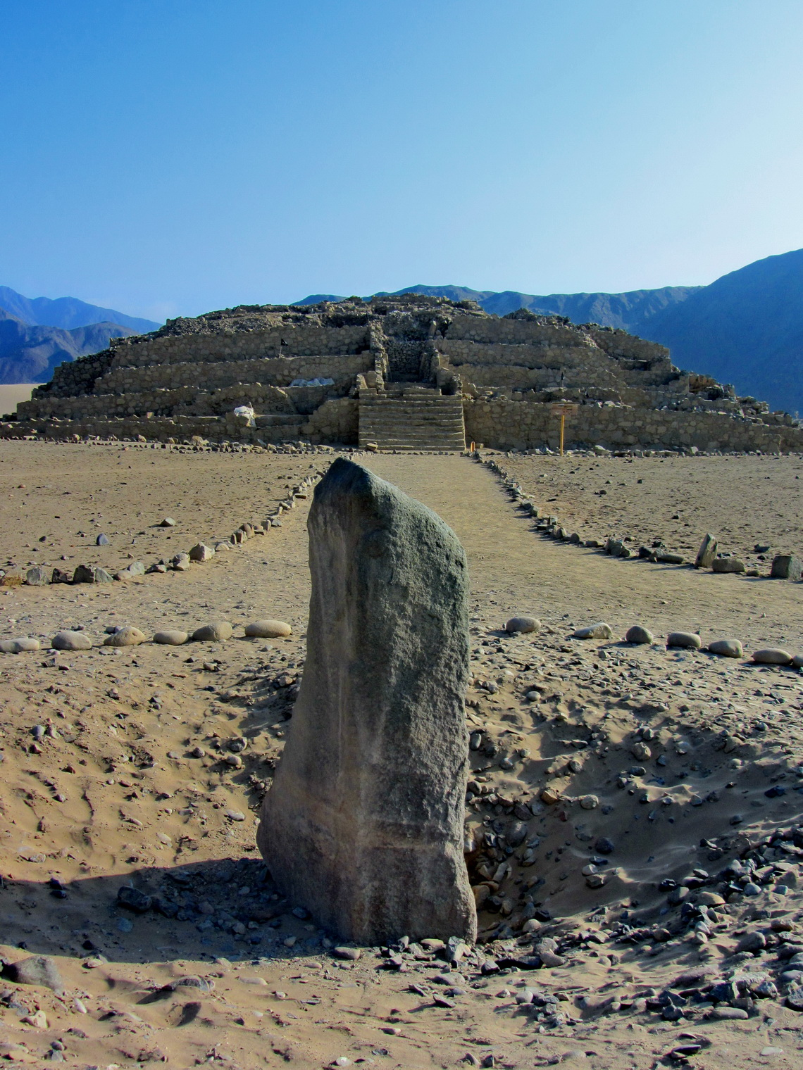 Sacred stone with the main pyramid