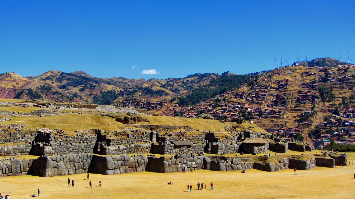 Inca fortress Saqsaywaman above Cusco