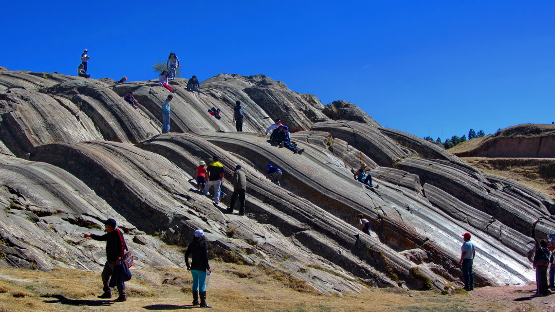 Natural slides in Saqsaywaman