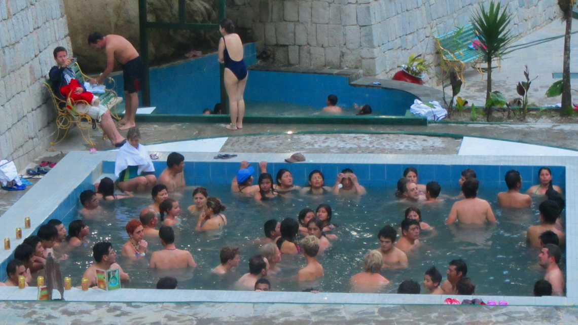 A little bit crowded hot springs