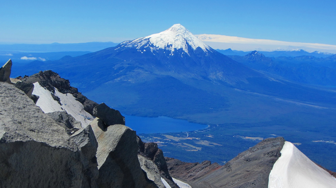 Volcan Osorno dominates the skyline