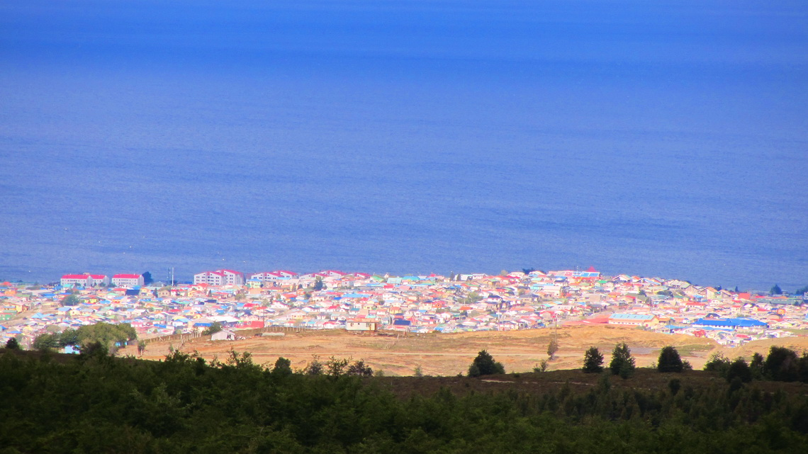 Part of Punta Arenas seen from Monte Fewton