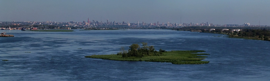 Skyline of Asuncion with Rio Paraguay