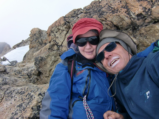 Marion and Alfred in a cosy corner on top of Cerro Charkini