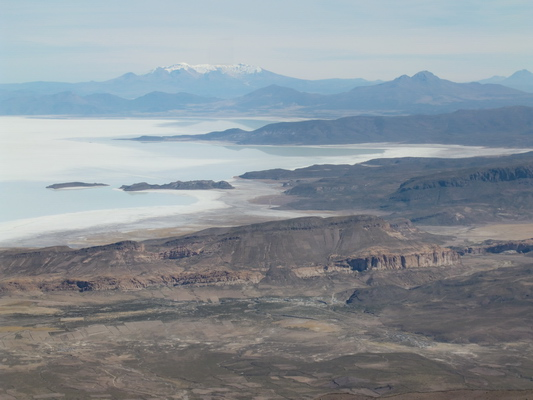 Salar de Uyuni from the western summit of the Volcano Tunupa