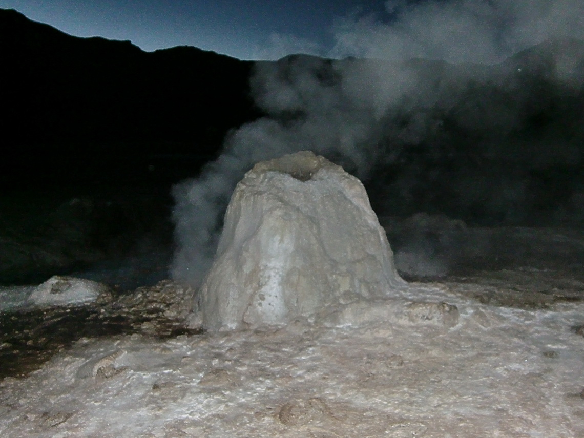 Small smoking volcano