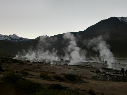 Very busy Geysers of Tatio