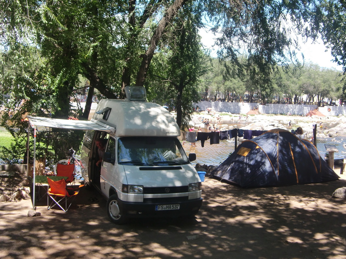 Our camping place at Playa de Oro