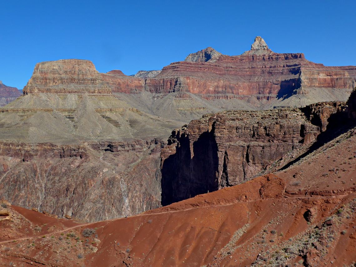Lower South Kaibab Trail with Wotans Throne
