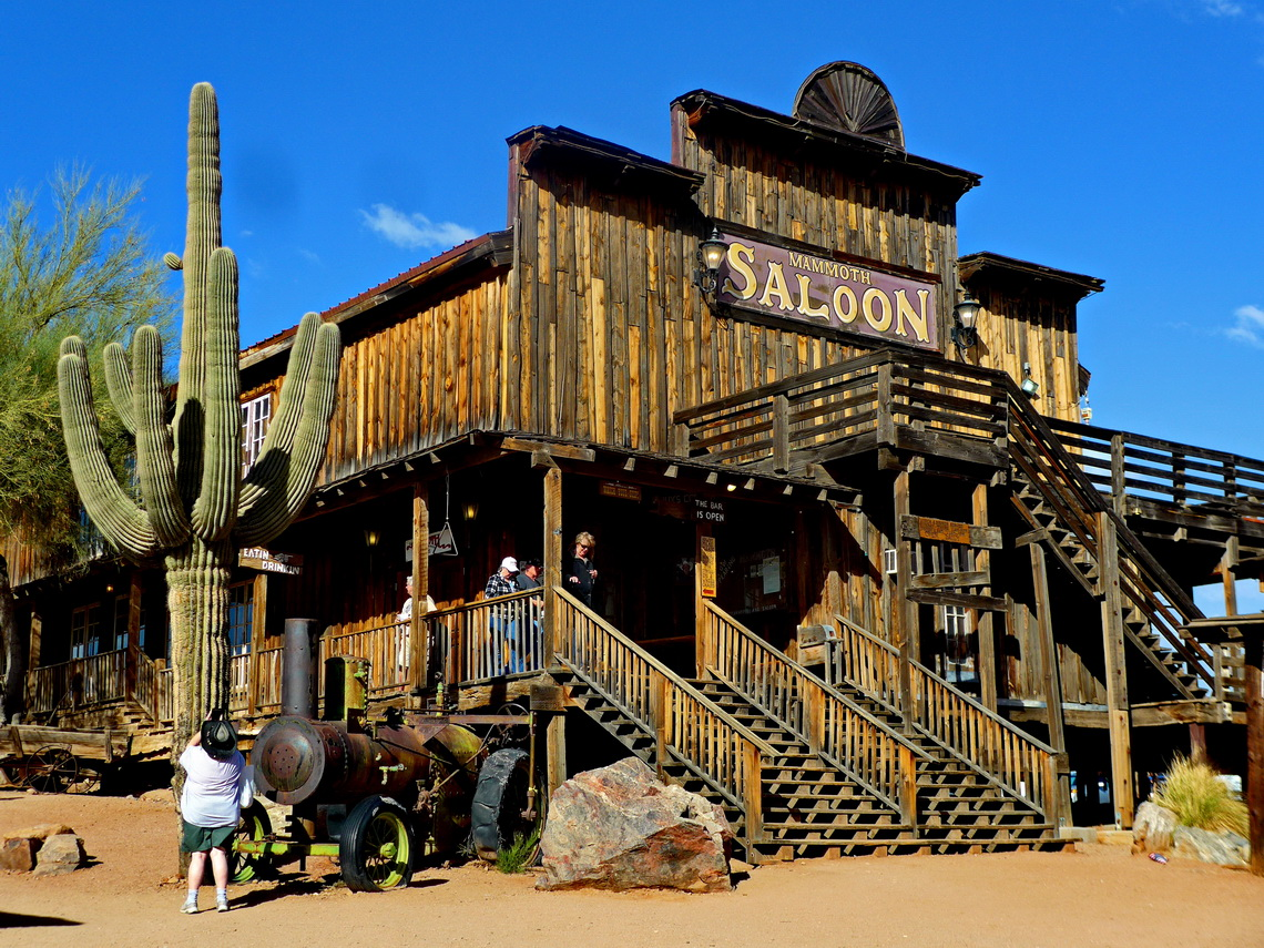 Saloon of Goldfield Ghost Town