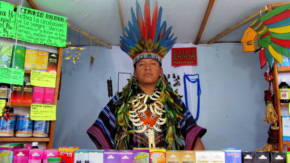 Chieftain from the Amazon in Pasto