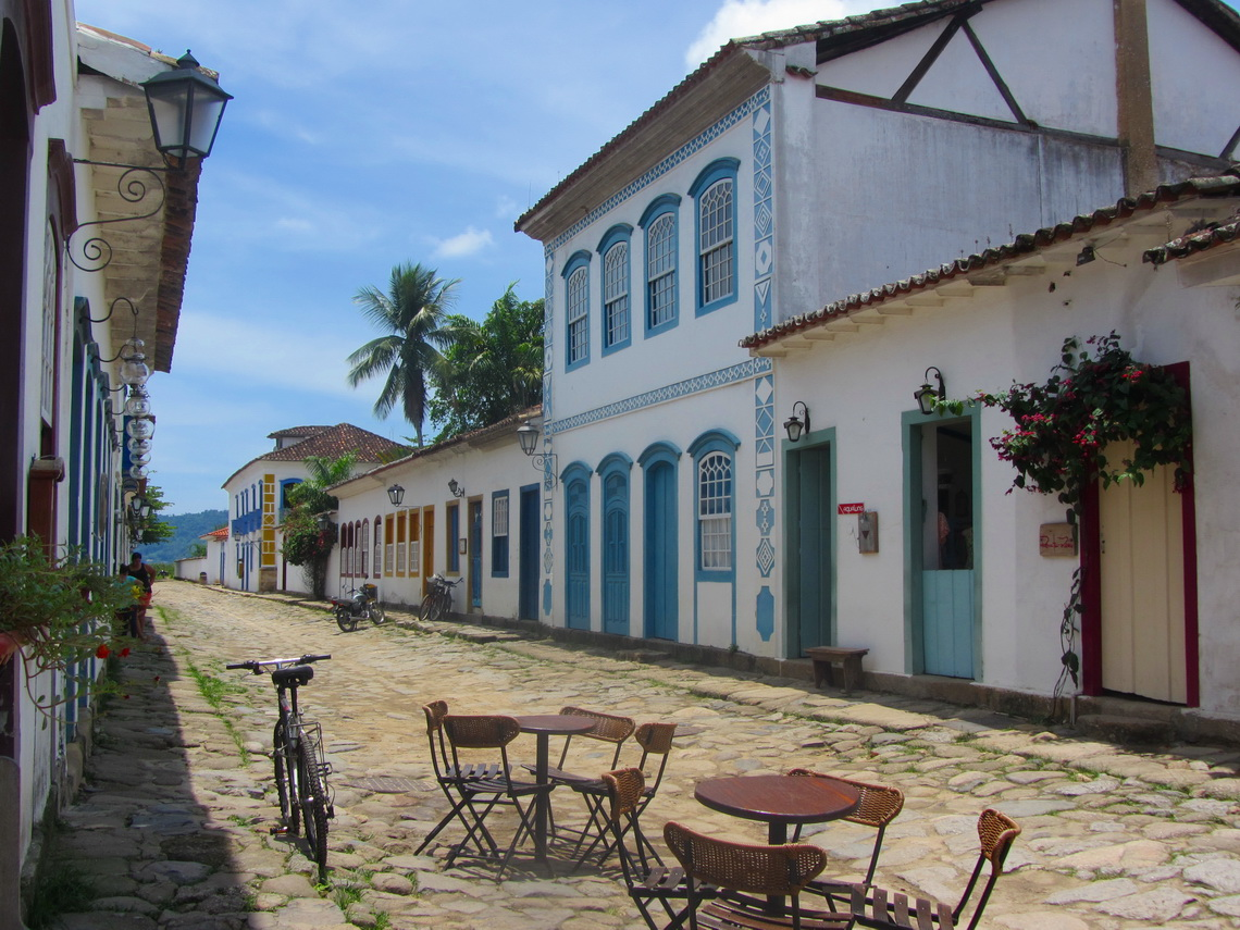 Cobbled street in Paraty