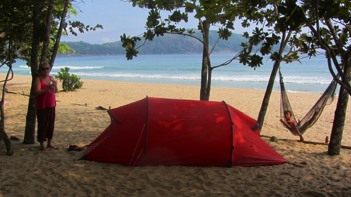 Our tent on Praia do Sono