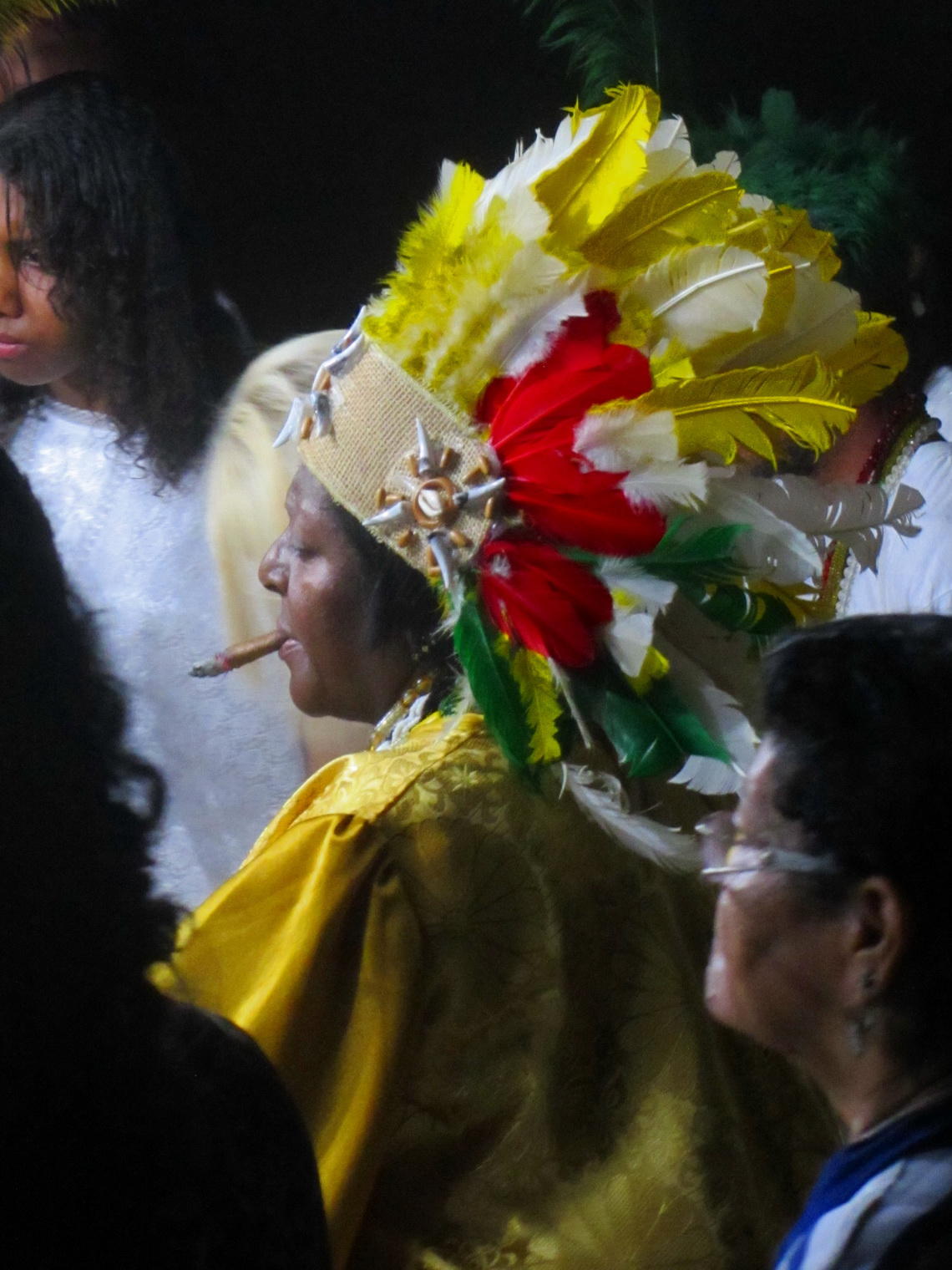 Smoking Lady celebrating Candomble