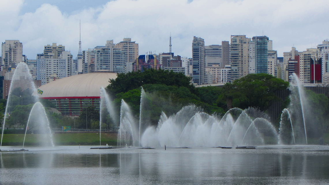 Northern view in the Parque do Ibirapuera