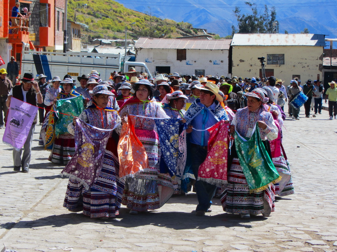 Dancing in the streets of Cabanaconde